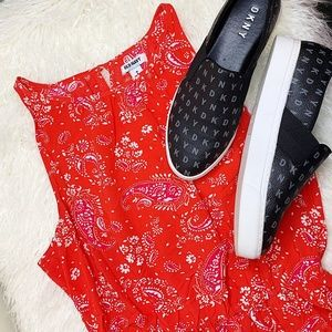 Old Navy - Paisley Dress - Red